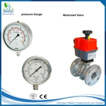pressure-guage-and-motorized-valve